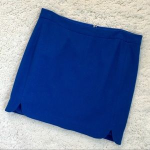 J. Crew Cobalt Blue Wool Blend Mini Skirt - B